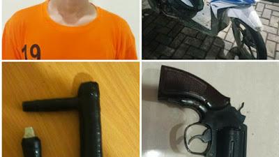 Gasak Motor Pengunjung Minimarket, Pria ini Dibekuk Polisi Polsek Panongan