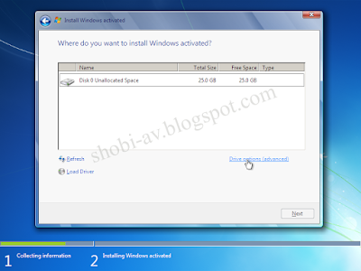 Partisi HDD Install Windows 7