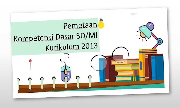 Pemetaan KD Kurikulum 2013 SD/MI Kelas 1 2 3 4 5 6