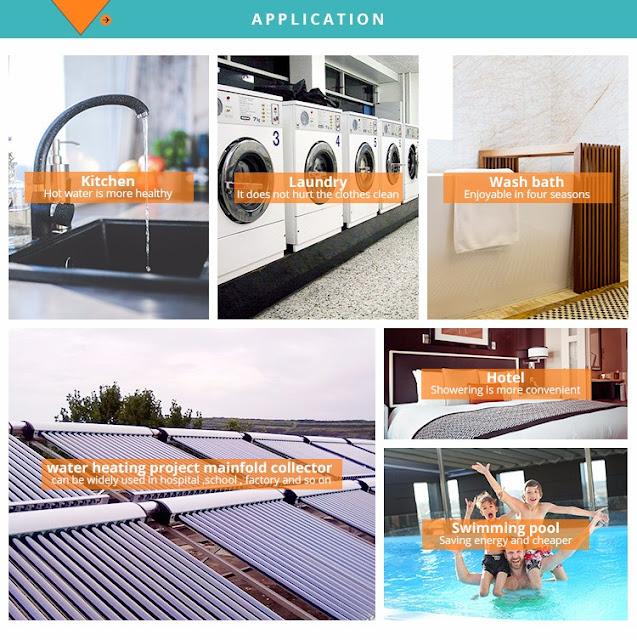 استخدامات السخانات الشمسية فى الحياة العملية