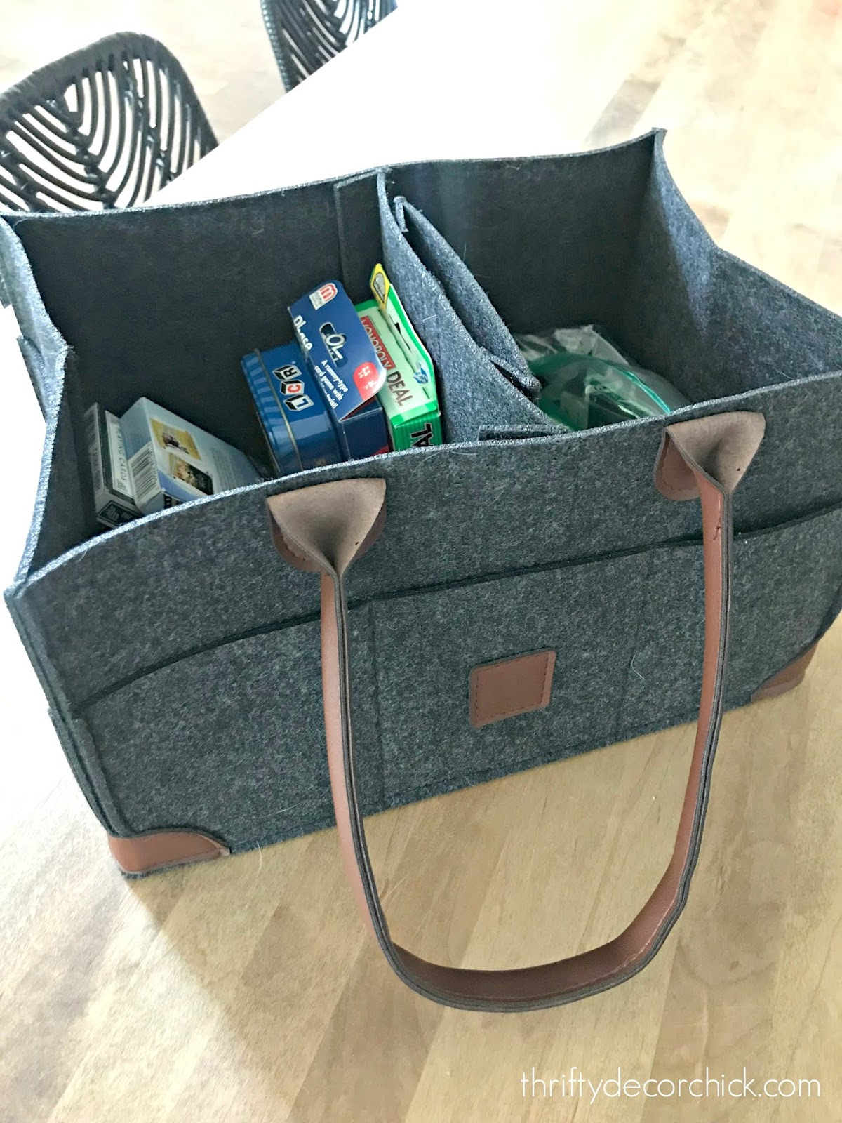 felt diaper/game/storage caddy