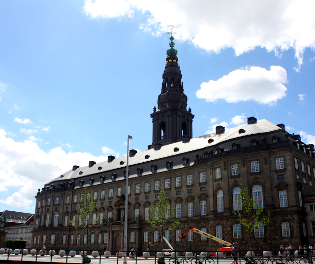 Christiansborg Slot impresses at it rises above the canal.