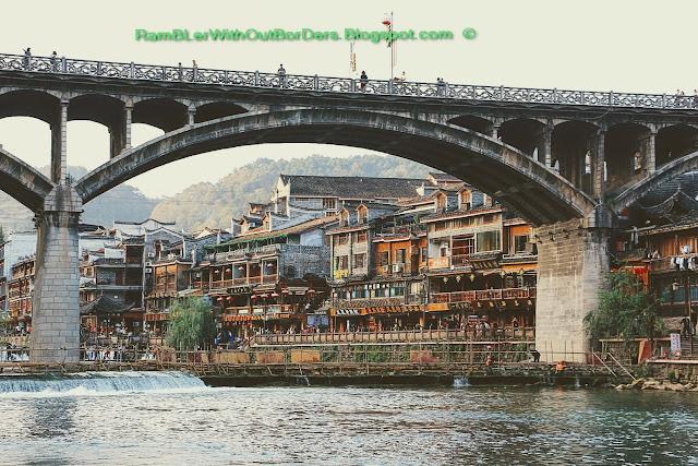 Bridge, Riverside, Phoenix Fenghuang County, Hunan, China