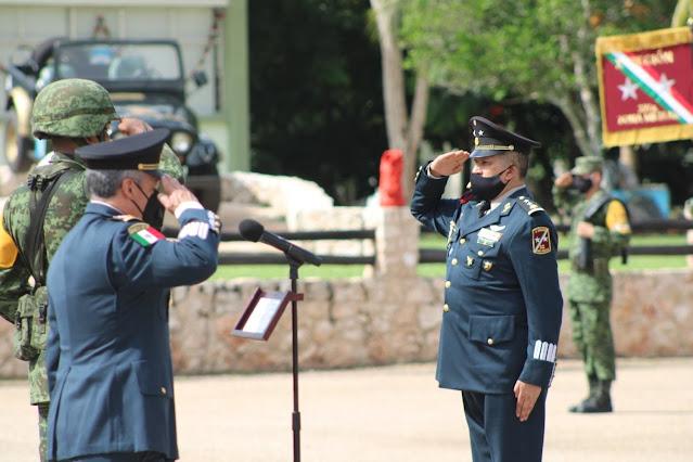 El general Francisco Miguel Aranda Gutiérrez, nuevo Comandante de la 32/a. Zona Militar