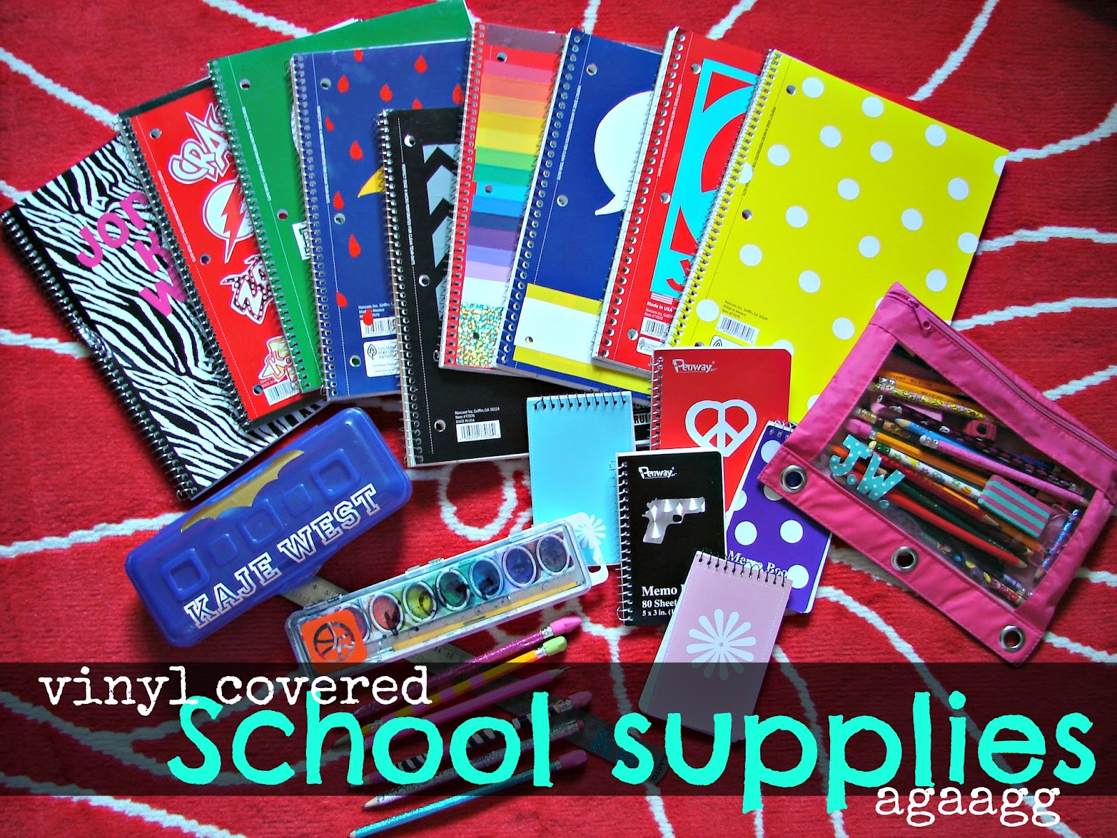 Personalize Your School Supplies With Vinyl A Girl