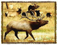 elk blanket throw afghan tapestry