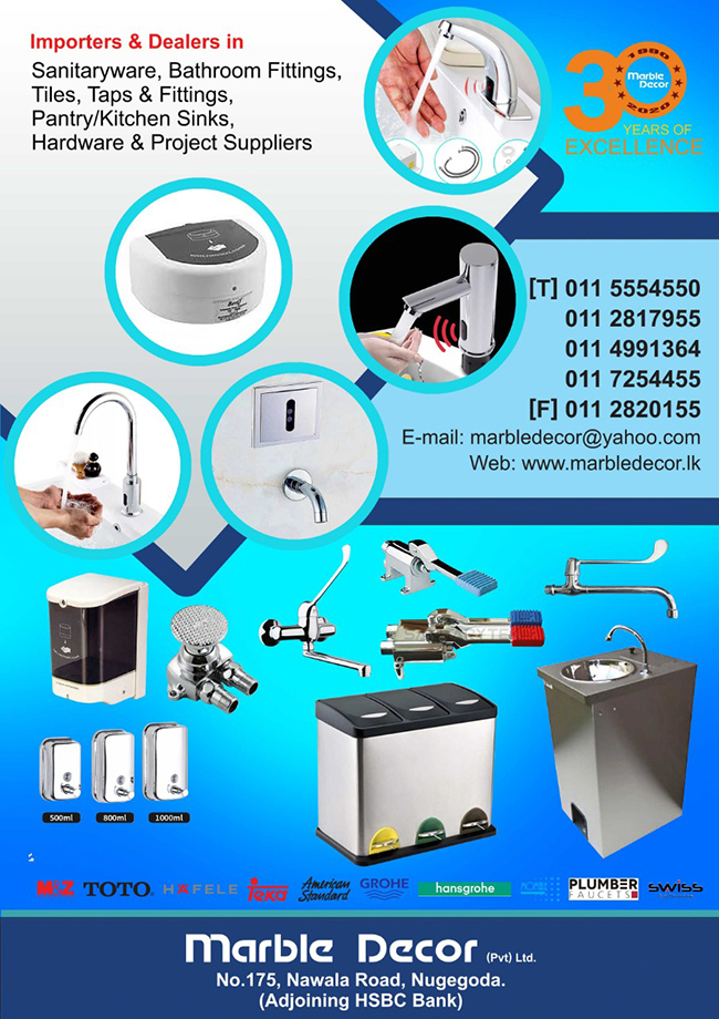 Range of Sanitarywares, Bathroom fittings and Tiles under one roof.