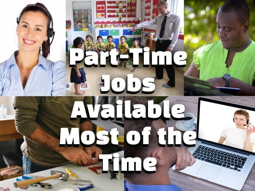 Part-time jobs available all year round