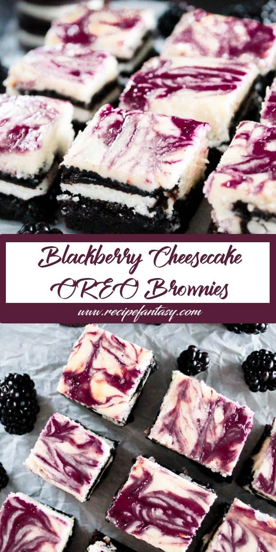 Blackberry Cheesecake OREO Brownies