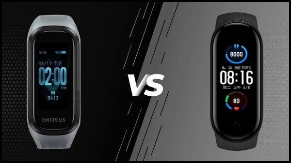 OnePlus Band vs Mi Band 5
