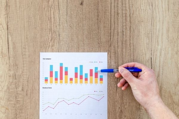Ilustrasi Grafik Pertumbuhan Bisnis.