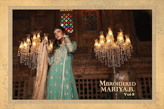 Shree fab Mbroidered mariya b vol 8 Pakistani Suits