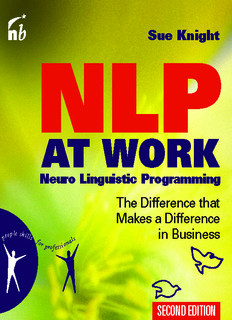 NLP At Work: The Difference that Makes the Difference in Business By Sue Knight