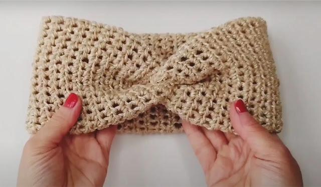 Cómo tejer una Diadema  X Twist Tejida a Crochet