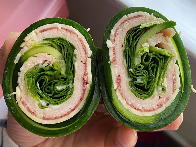 Cucumber roll-ups!