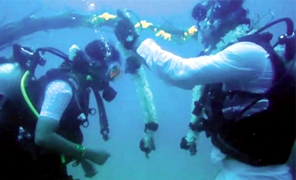 Chennai couple got married under the sea video