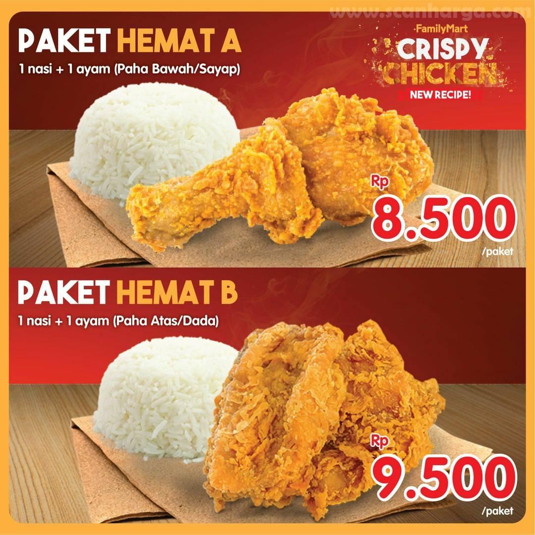 Family Mart Promo Paket Hemat Crispy Chicken Harga Mulai Rp 8.500/paket