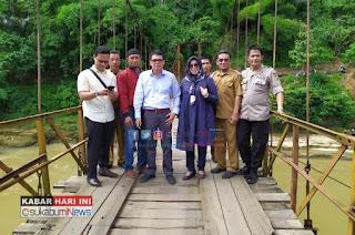 Anggota DPRD Provinsi Jabar kunjungi Jembatan Gantung Lalay