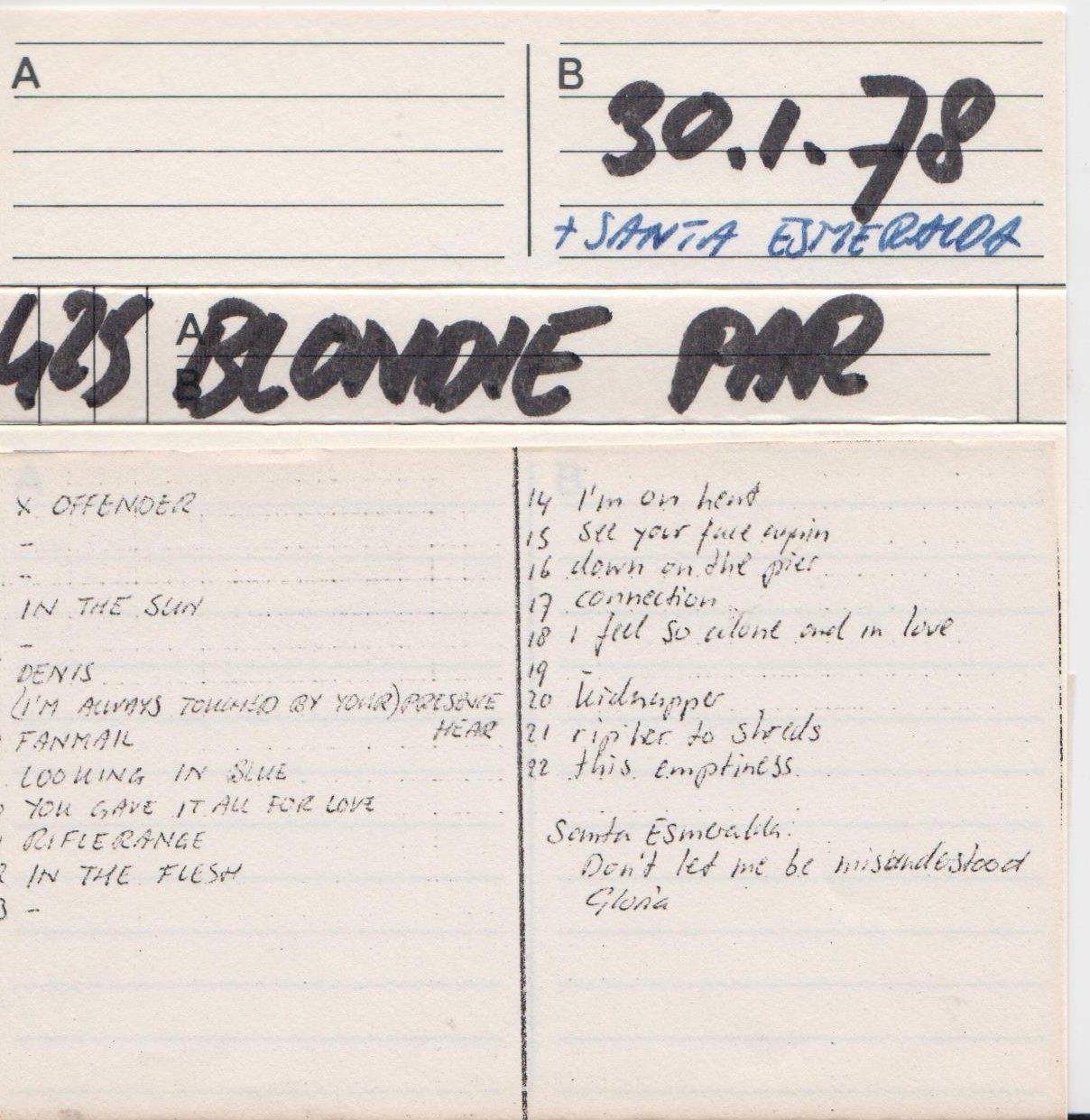 blondie,paradiso amsterdam 30 1 78 flac - Guitars101 - Guitar Forums