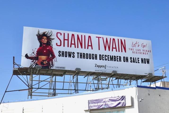Shania Twain Lets Go Vegas billboard