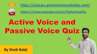 Active Voice and Passive Voice Quiz - 1