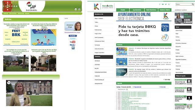 web del Ayuntamiento y página del Ayuntamiento