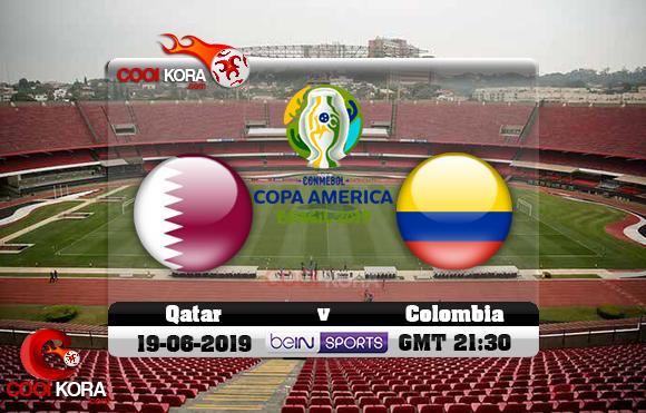 مشاهدة مباراة كولومبيا وقطر اليوم 19-6-2019 علي بي أن ماكس كوبا أمريكا 2019