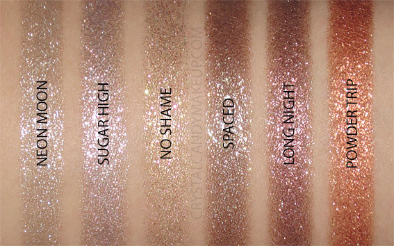 Urban Decay Party Favor Eye Palette Holiday 2019 Swatches