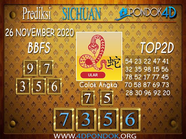 Prediksi Togel SICHUAN PONDOK4D 26 NOVEMBER 2020