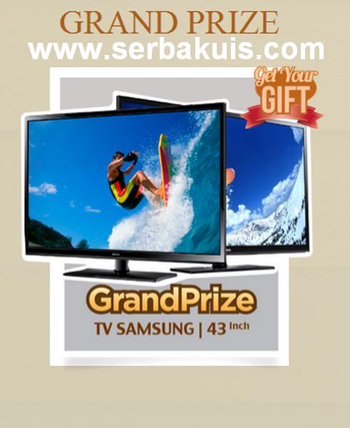Kuis Get Your Gift 2014 Berhadiah TV LCD Samsung 43 Inch