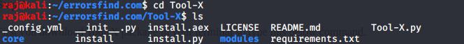 Tool-X Termux hacking Tool installer.