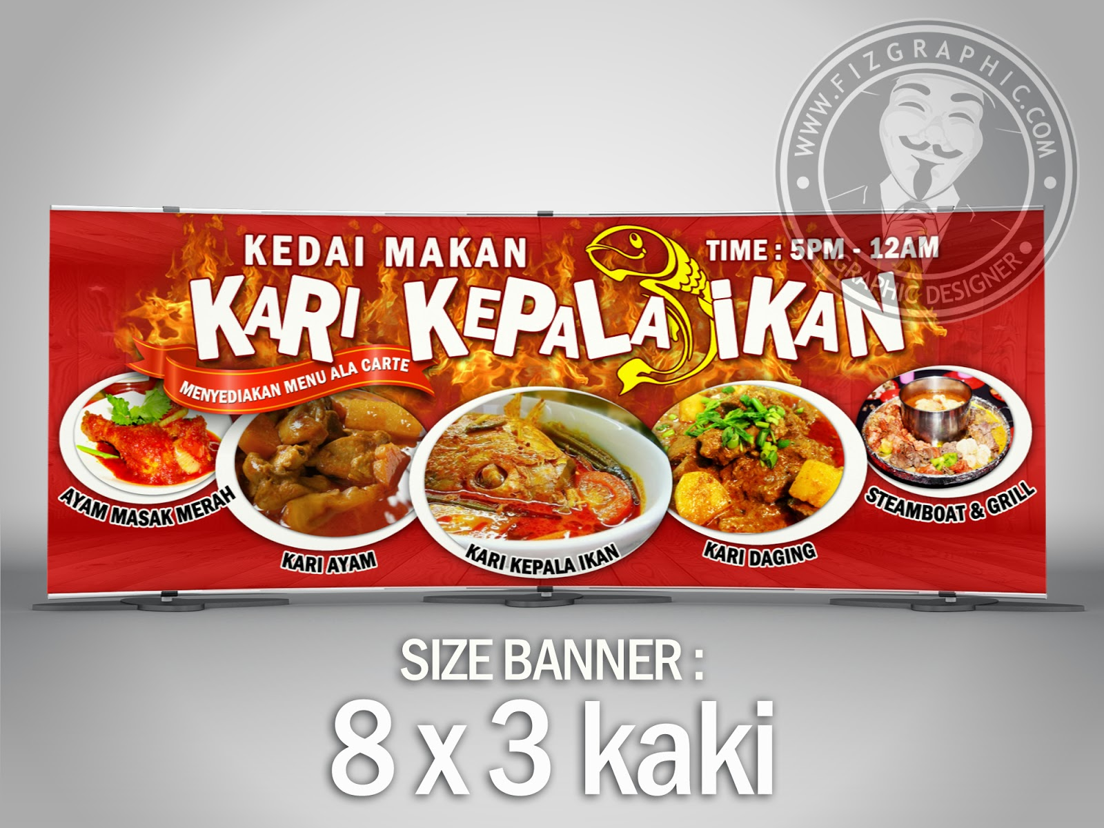 Menu Contoh Banner Kedai Makan