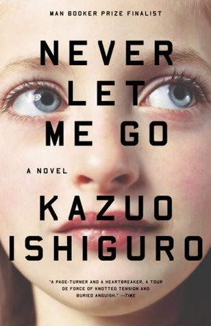 Book cover for Kazuo Ishiguro's Never Let Me Go in the South Manchester, Chorlton, and Didsbury book group