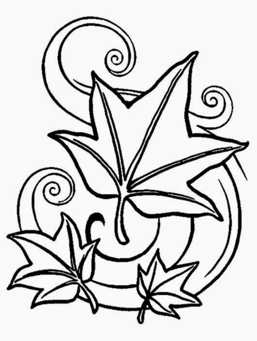 Printable fall coloring pages free coloring sheet for Free leaf coloring pages