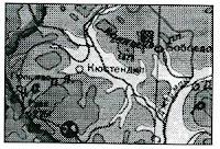 Котловина (фрагмент от  географска карта)