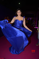 Mannara Chopra in Deep Neck Blue Gown at Zee Telugu Apsara Awards ~  Exclusive 023.jpg