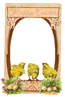 printable easter greeting chicks scrapbooking