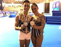 GIMNASIA AÉROBICA - Vicente Lli y Sara Moreno defendieron el título europeo. Oro también de Belén Guillemot y plata para Pedro Cabañas