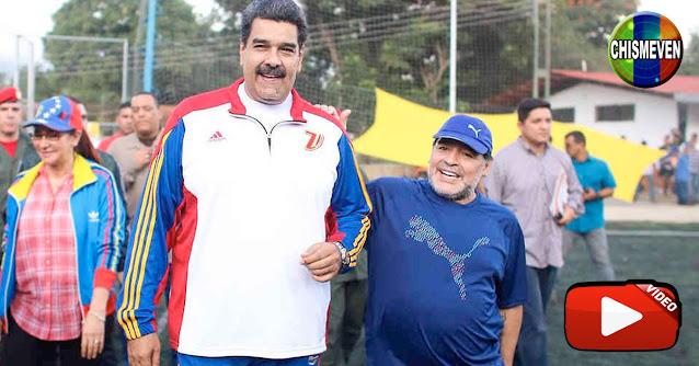 Maduro aún no se recupera de la Muerte de Maradona y promete un enorme homenaje