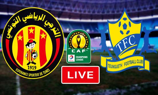 Live Stream Match Esperance Sportive De Tunis Taraji VS Teungueth FC CAFC