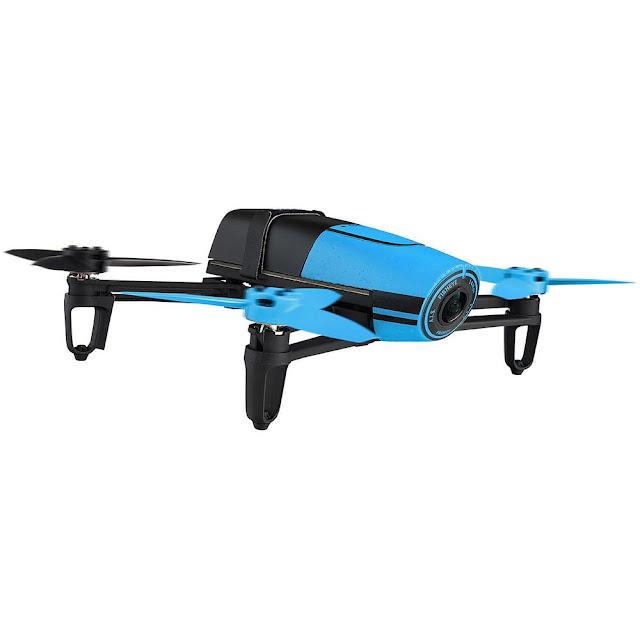 Drone Parrot Bebop azul com câmera 14 MP Full HD WiFi e controle via smartphone