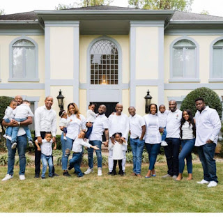 Davido, His Siblings Are Pictured With Their Kids And Spouses In A Family - Photo