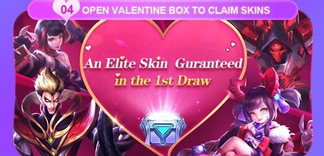 Cara Mendapatkan Skin Elite Mobile legends Event Valentine 2020