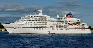 Hapag-Lloyd Cruises Europa - One of three ships requesting temporary layup in Bermuda.- other ships Norwegian Cruise Line's Norwegian Bliss, Norwegian Gem