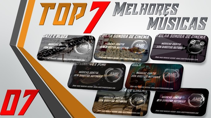 As 7 Melhores Músicas #07 Grátis free use Logo Tipo Designer