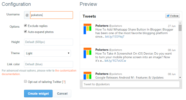 How To Add Twitter Widget To Your Blog
