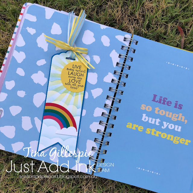 scissorspapercard, Stampin' Up!, Just Add Ink, Rainbow Builder Dies, Ribbon Of Courage