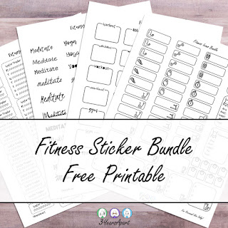 3 Years Apart Fitness Sticker Bundle Free Printable