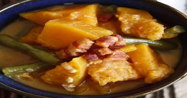Squash And Green Beans In Coconut Milk (Kalabasa At Sitaw Sa Gata) Recipe