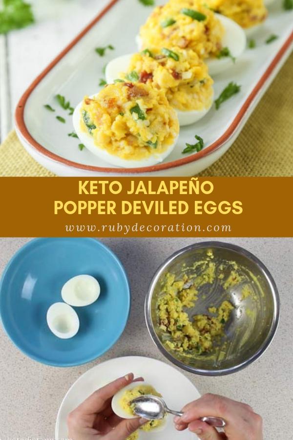 Keto Jalapeño Popper Deviled Eggs